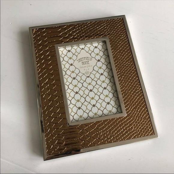 Sheffield Home Accessories | Coppersilver Snakeskin Frame 4x6 | Poshmark